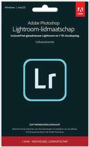 Adobe Lightroom 1TB   1 Jaar   PC/Mac   Key Card & Download