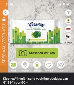 Gratis hygiënische vochtige doekjes van Kleenex