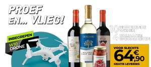 10 wijnen + 4 delicatessen + Drone