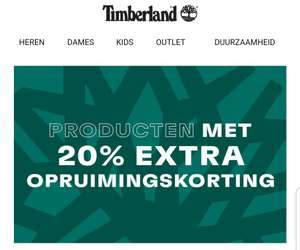 20% EXTRA korting [va 2 items] @ Timberland