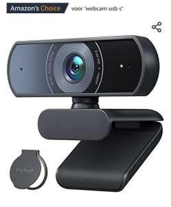 Victure 1080p webcam met zichtbescherming, streaming-USB-camera met twee stereo-microfoons, plug-and-play