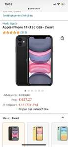 Apple iPhone 11 (128 GB) - Zwart