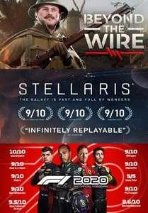 (7 Gratis weekend games) Beyond The Wire, Stellaris, Cities: Skylines, Surviving Mars, Northgard, Museum of Other Realities en F1® 2020