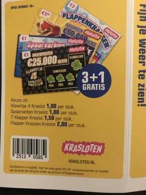 3+1 gratis Kraslot bij Primera