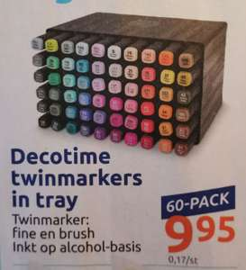 60-pack Decotime twinmarkers in tray @ Action