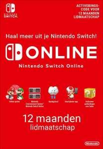 1 jaar Nintendo Switch Online voor €14,04