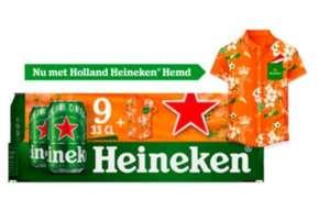 Jumbo Heineken Premium Pilsener Oranje Blik 9 x 330ml met een oranje hemd