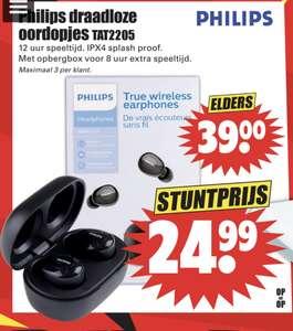 Philips draadloze oordopjes tat2205 bij Dirk