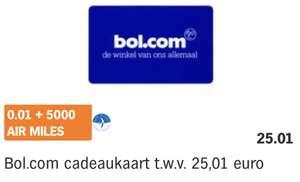 WEER MOGELIJK: Airmiles inwisselen voor Bol.com cadeaukaarten
