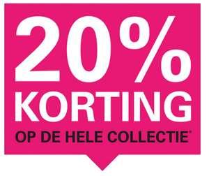 Actie: 20% korting op nieuwe collectie