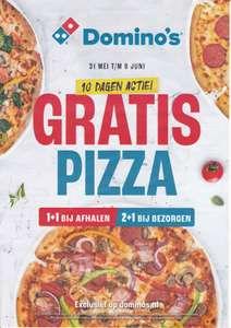 GRATIS Pizza (bij afhalen) Bij bezorgen van 2, 1 Gratis @ Domino's