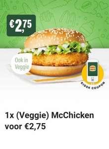 McDonald's app coupon voor (Veggie) McChicken