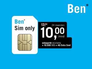 Ben sim only ING spaarpunten deal, 10gb en onbeperkt bellen en SMS voor 10 Euro per maand. Geen aansluitkosten.