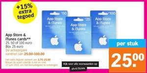 App Store & iTunes Card +15% Extra @ Albert Heijn