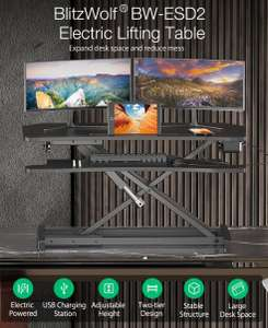 BlitzWolf® BW-ESD2 electrisch in hoogte verstelbaar bureau organizer 2 schermen staand werken