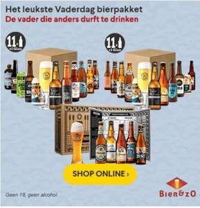 10% korting op Vaderdag bierpaketten bij bierenzo.nl