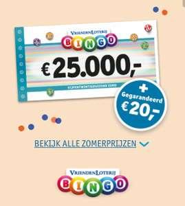 [GRATIS Geld] €20 plus gratis lot en drie keer Bingo @vriendenloterij
