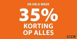 Actie: 35% korting op ALLES + 10% extra met code
