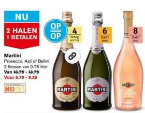 Hoogvliet Martini Prosecco, Asti of Bellini 1+1gratis