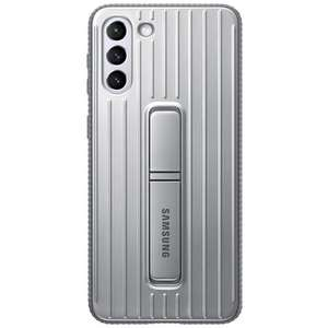 Samsung PC Protective Standing Back Cover Zilver Samsung Galaxy S21+ @ Belsimpel