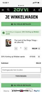 Lord of The Rings 4K ultra HD set