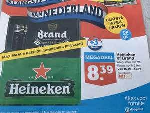 Krat Heineken of Brand voor €8,39 @ Hoogvliet