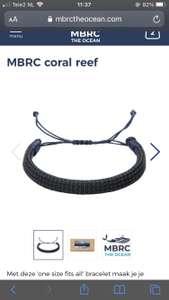 Kortingscode voor armband @MBRC bij je bestelling