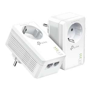 TP-Link AV1000 2-Port Gigabit Passthrough Powerline Starter Kit - 1000Mbps