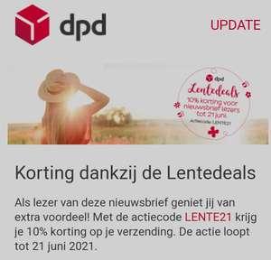 DPD Parcel 10% korting op verzenden