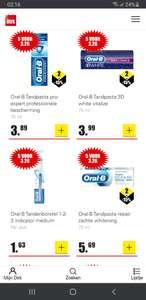 Oral-b tandpasta of tandenborstel 5 voor 3.26