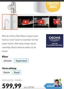 Grohe mono kokend water kraan