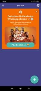 Tikkie exclusieve Hollandicons / Whatsapp stickers