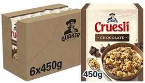 Quaker Cruesli Chocolate, 6 x 450 g
