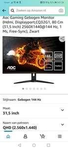 [Prime Days] Aoc Cq32G1 Curved 144 Hz QHD 31,5 inch