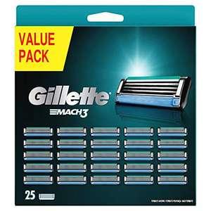 Gillette Mach 3 scheermesjes voor mannen, 25 stuks! (Prime)