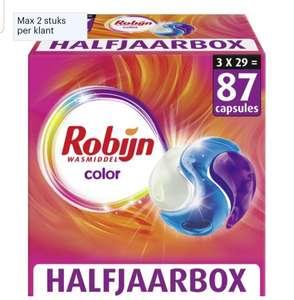 Robijn Color 3 in 1 Wascapsules - 3 x 29 wasbeurten - Halfjaarboxl