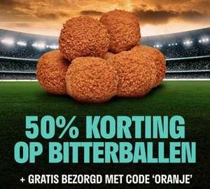 FEBO: 50% korting op bitterballen (min €10,- besteding)