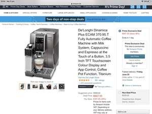Delonghi espresso Dinamica Plus ECAM370.95.T