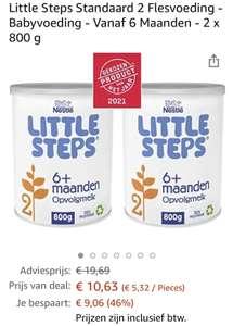 """""""Nestlé """"Little steps"""" Flesvoeding nummer 2 (6 maand+): Bijna 2 blikken voor de prijs van 1 blik"""