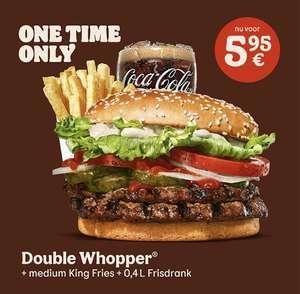 Double Whopper Menu van €11 voor €6 @ Burger King