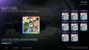 Gratis LOVE ISLV spelerAnthem bundel Rocket league