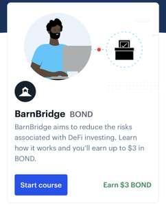 Coinbase earn gratis 3$ aan Bond crypto