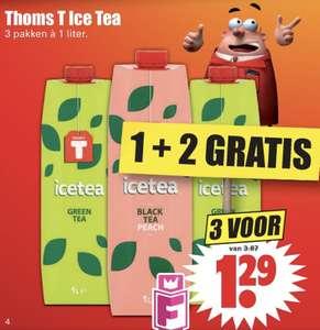 Thoms T ice tea 1+2 gratis bij Dirk