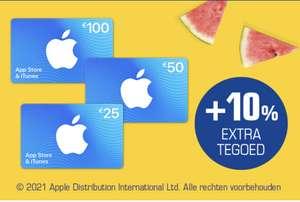 10% extra tegoed bij iTunes en App Store