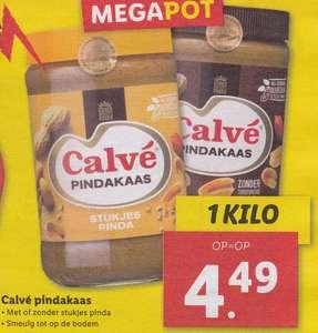 1 KG Calvé Pindakaas (met of zonder stukjes pinda) @ LIDL