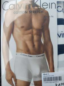 Calvin Klein boxers 3-pack €24,99 @ Scapino