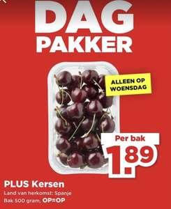 Plus Dagpakker : 500g kersen van €3,69 voor €1,89