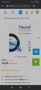 4x 3000 gram Neutral waspoeder