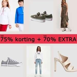 SALE tot -75% + tot 70% EXTRA korting