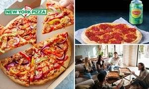 2x pizza en garlic bread voor 7,50 met kortingscode bij New York pizza